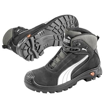 Puma Safety Shoes Cascades Mid S3 HRO SRC, Puma 630210-202 Unisex-Erwachsene Sicherheitsschuhe, Schwarz (schwarz/weiß 202), EU 44 - 1
