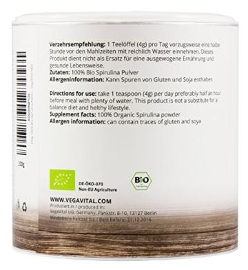 spirulina algen pulver 200g von vegavital 100 bio. Black Bedroom Furniture Sets. Home Design Ideas